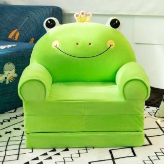 Ghế tập ngồi, ghế ăn dặm, ghế sofa cho bé ba ngăn màu xanh dành cho bé trai thumbnail