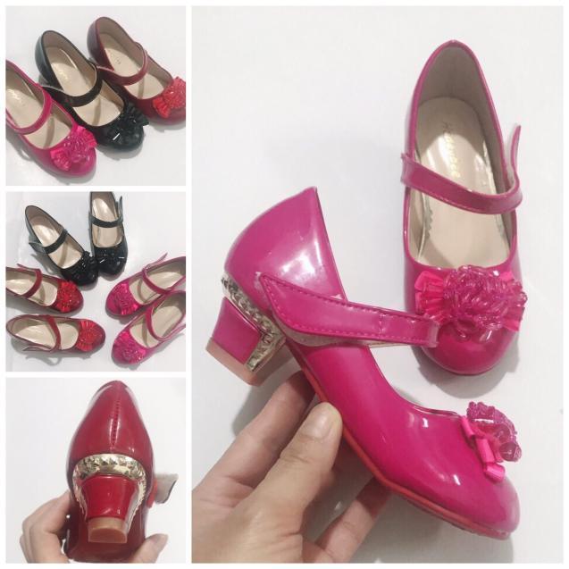 Giày cao gót cho bé gái 3cm 91208 sz25-34 giá rẻ