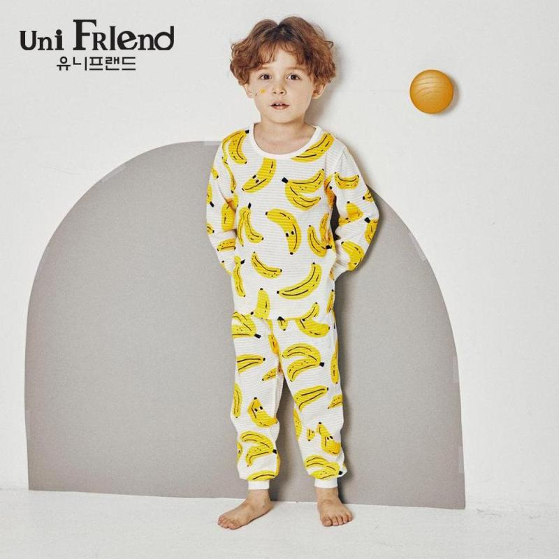Nơi bán Đồ bộ mặc nhà bé gái Unifriend thun dài họa tiết chuối U9SSTD04