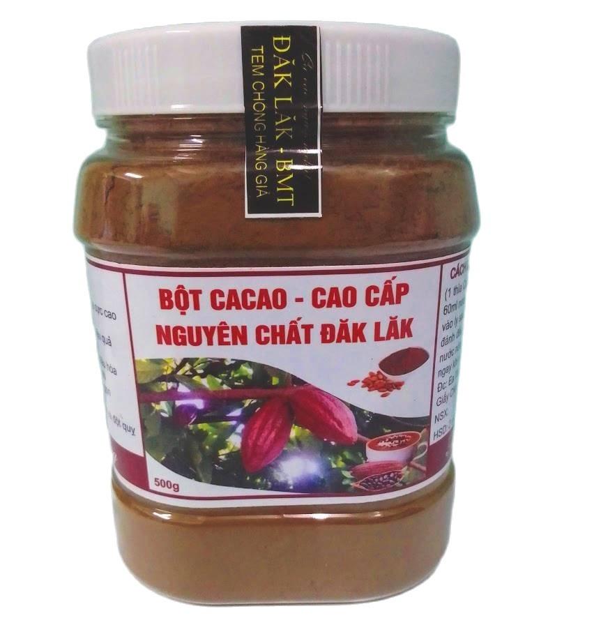 (MIỄN SHIP 18K) 500gr Bột Cacao Nguyên Chất Đăk Lăk Loại 1: Thơm Ngon, Bổ Dưỡng, Vị Đậm Đà (Shop Na Gà)