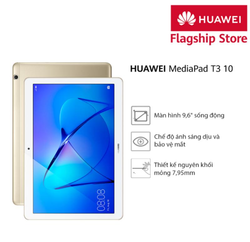 Máy tính bảng Huawei MediaPad T3 10 (2017) Bộ nhớ trong 16GB/ Ram 2GB, Pin khủng, Thiết kế trang nhã, hiển thị sống động cho niềm vui bất tận-Tặng loa bluetooth Huawei CM510 xanh lá trị giá 699k từ 09.09-12.09 - Hàng phân phối chính hãng