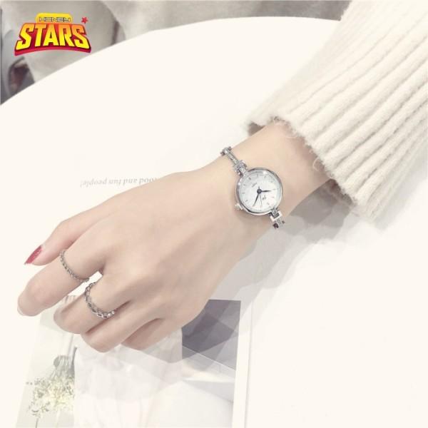 Nơi bán Đồng hồ nữ chống nước cá tính dây chuyền cổ điển một thanh đính đá sang trọng [Tặng kèm hộp] Honey Start 597966