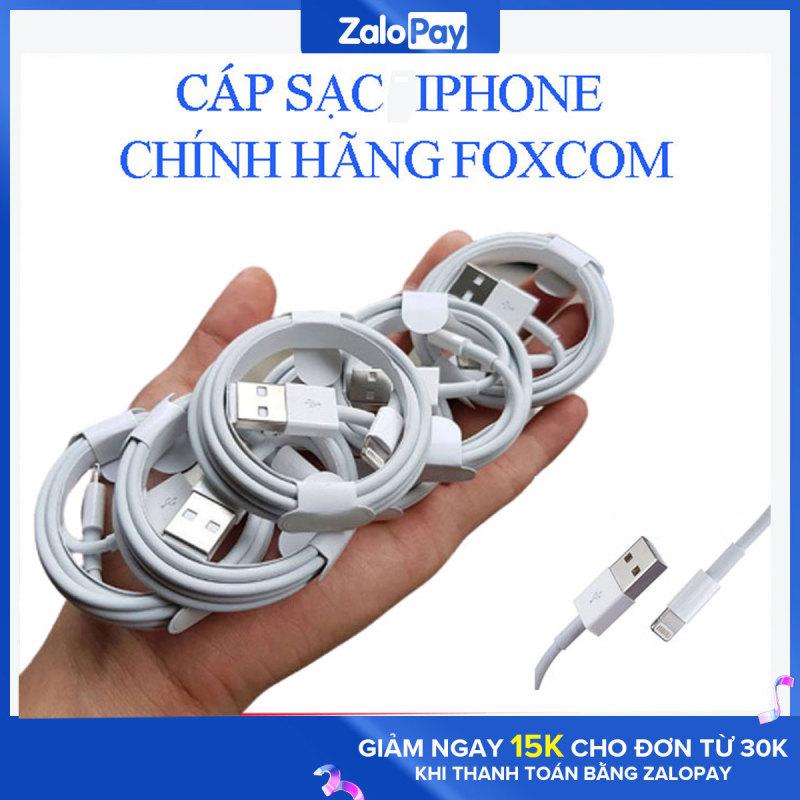[Giá Sỉ - Bán Chạy] Cáp sạc Iphone chất lượng, an toàn cho máy, Cáp sạt chân Lightning cho các các dòng máy ip 6. 6s. 7, 7 Plus, 8, 8plus. X, Xs Max... cáp sạc Foxcomdòng điện ổn định không hại pin