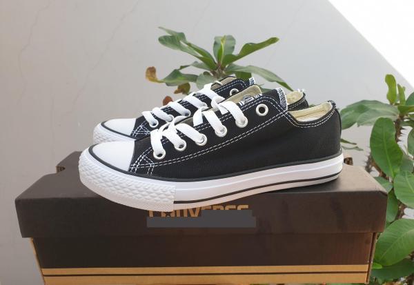 giày cv đen thấp cổ - tặng hộp