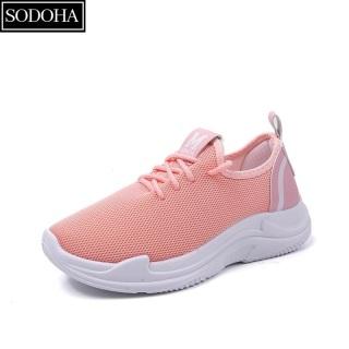 Giày Thể Thao Nữ Sodoha V6-58 [ Êm Nhẹ Chuẩn , Đế Mềm ] Màu Hồng thumbnail