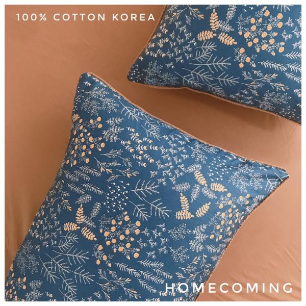 Vỏ gối nằm Cotton Hàn chuẩn họa tiết vintage kích thước 45x65cm 50x70cm thương hiệu Homecoming