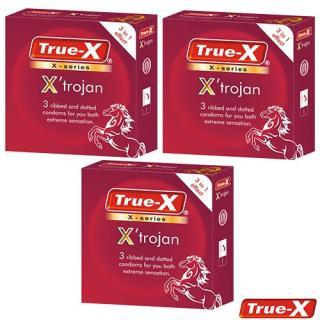 Combo 3 hộp Bao cao su gân gai True-X XTrojan ( 9 cái) thumbnail