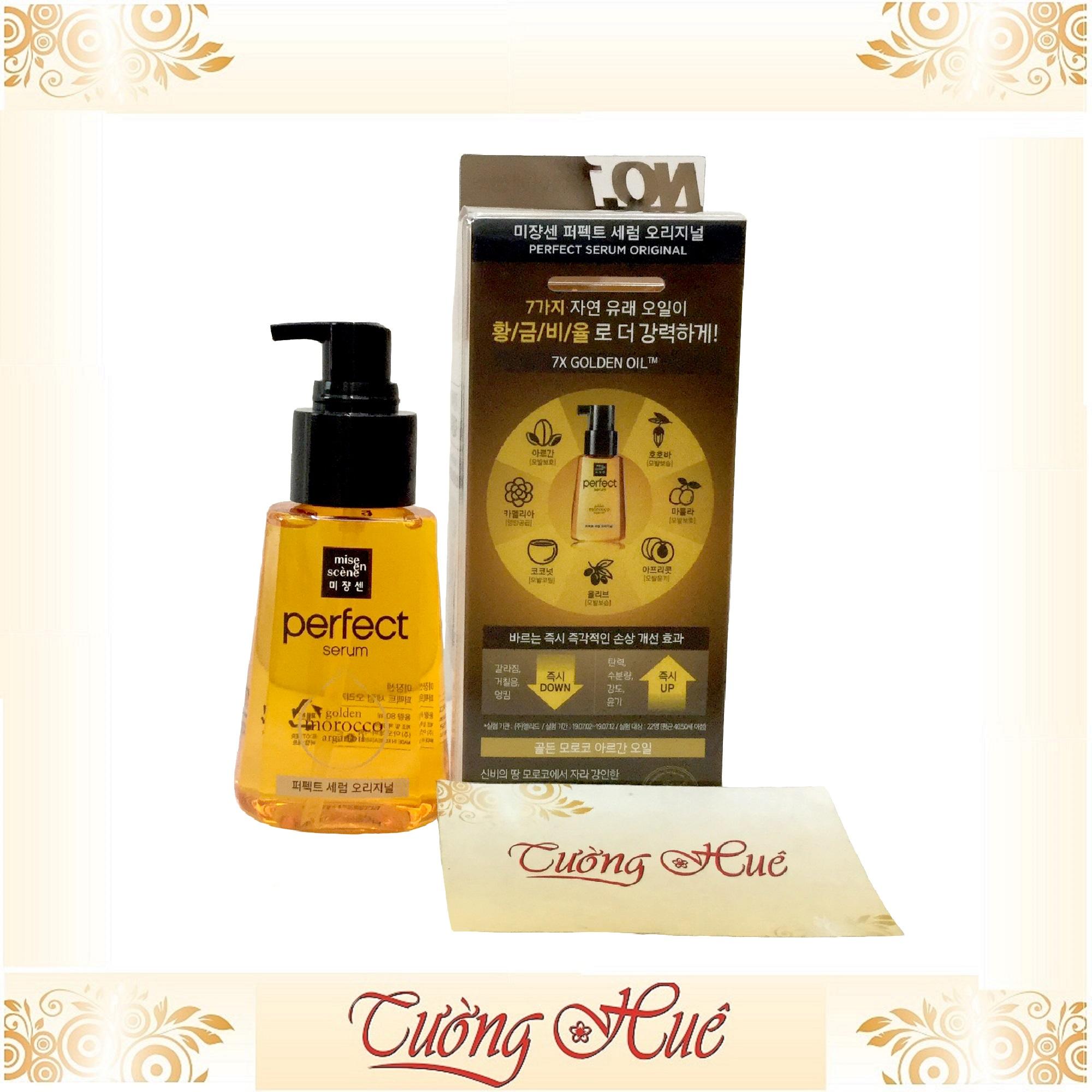 Tinh Chất Dưỡng Tóc Mise en scène Perfect Serum Golden Morocco Argan Oil - 80ml - Vàng cao cấp