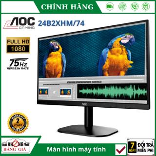 (Bảo hành 24 tháng - 24 inch - FullHD) Màn hình máy tính cây 24 inch gaming AOC IPS 24B2XHM 74 - FHD (1920 x 1080) 75Hz 5ms 24 inches l HÀNG CHÍNH HÃNG , màn hình pc , màn hình pc gaming thumbnail