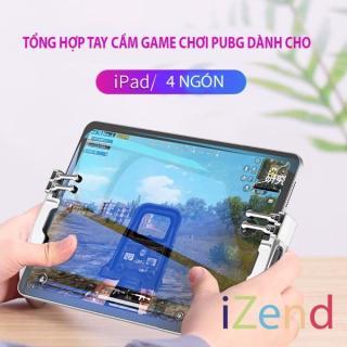 Tay cầm chơi game H11 dành cho ipad máy tính bảng hỗ trợ chơi game 6 ngón , game pubg , freefire , ROS mobile , game gì có 4 ngón là chơi được hết thumbnail