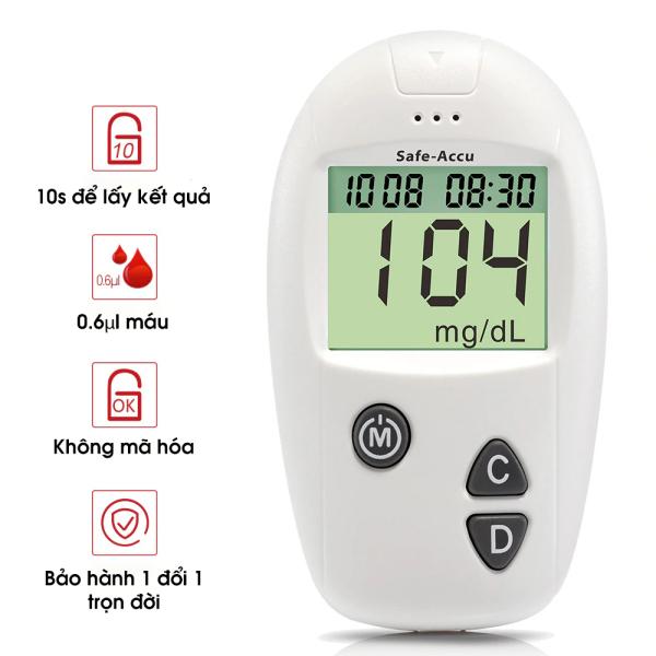 Nơi bán Máy đo đường huyết Safe Acucu Sinocare chính hãng bảo hành trọn đời, đo tiểu đường, phát hiện tiểu đường chính xác - Nhà Sứa