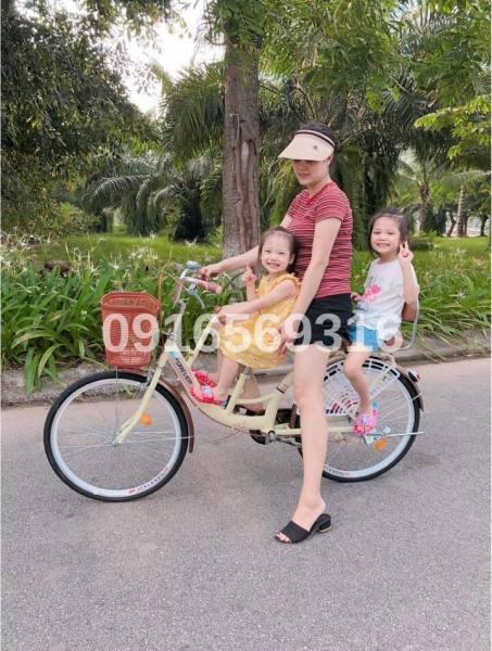 Mua Xe đạp Mẹ & Bé 2 chỗ ghế tựa- Bánh 24inch