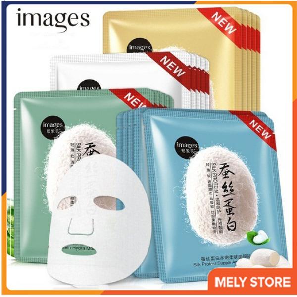 Combo 10 mặt nạ giấy dưỡng da tơ tằm cao cấp Image, mặt nạ dưỡng ẩm giúp da mềm mịn, mặt nạ giấy dưỡng da trắng, làm săn và tăng độ đàn hồi, chống lão hóa nội địa Trung SPU080