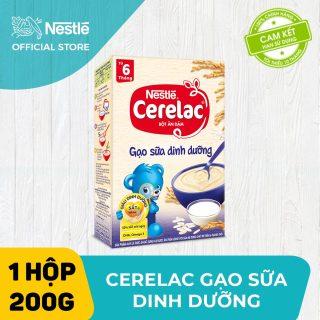 Bộ 2 hộp Bột ăn dặm Nestlé Cerelac 200g Gạo Sữa Dinh Dưỡng + Tặng 1 lục lạc cầm tay thumbnail