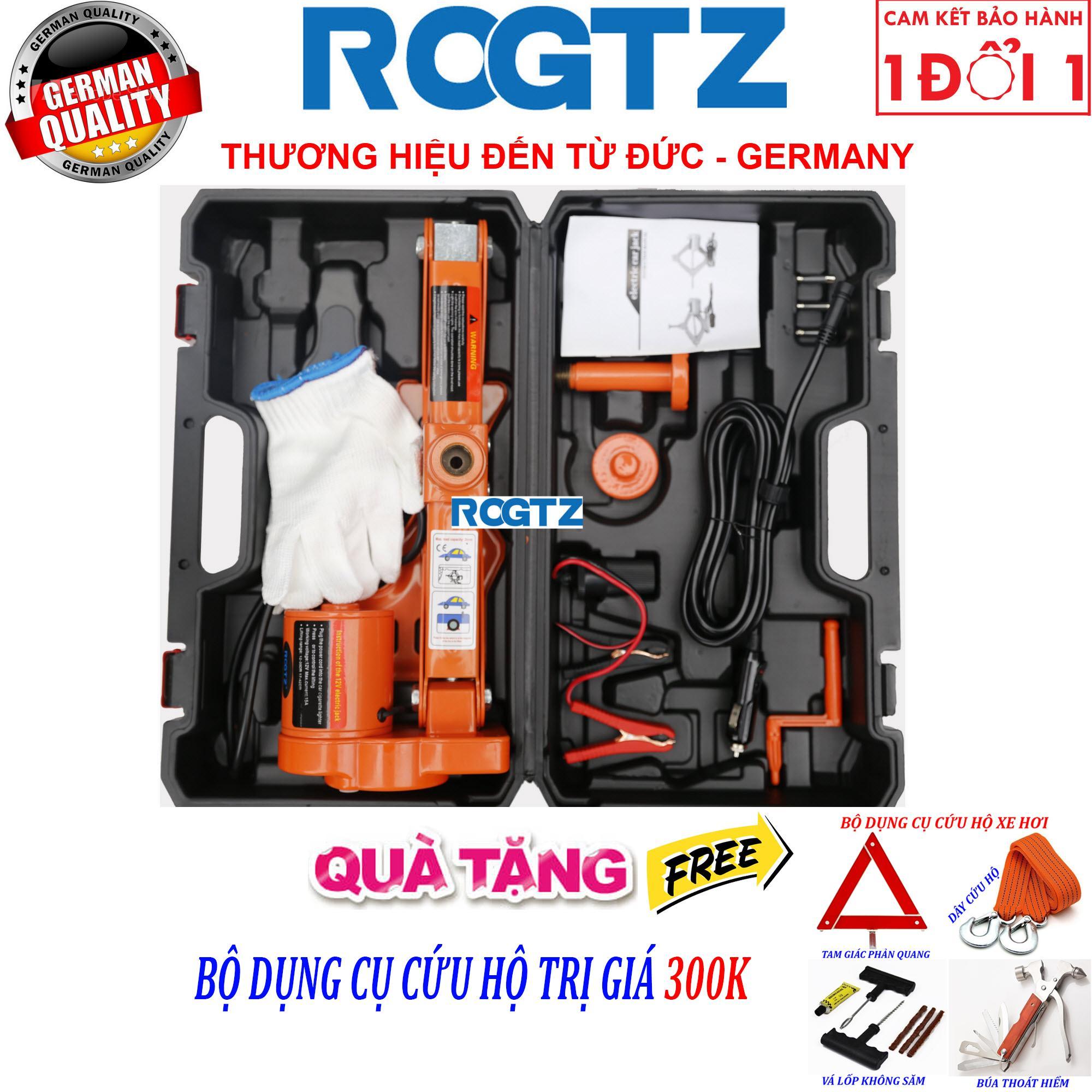 (ROGTZ - Thương hiệu đến từ Đức) Bộ kích nâng gầm xe chạy điện 12v - Con Đội Kích Lốp Nâng Gầm Xe Bằng Điện 12 Vol - Bộ kích gầm ô tô 12V - Con Đội Điện Nâng Gầm xe hơi