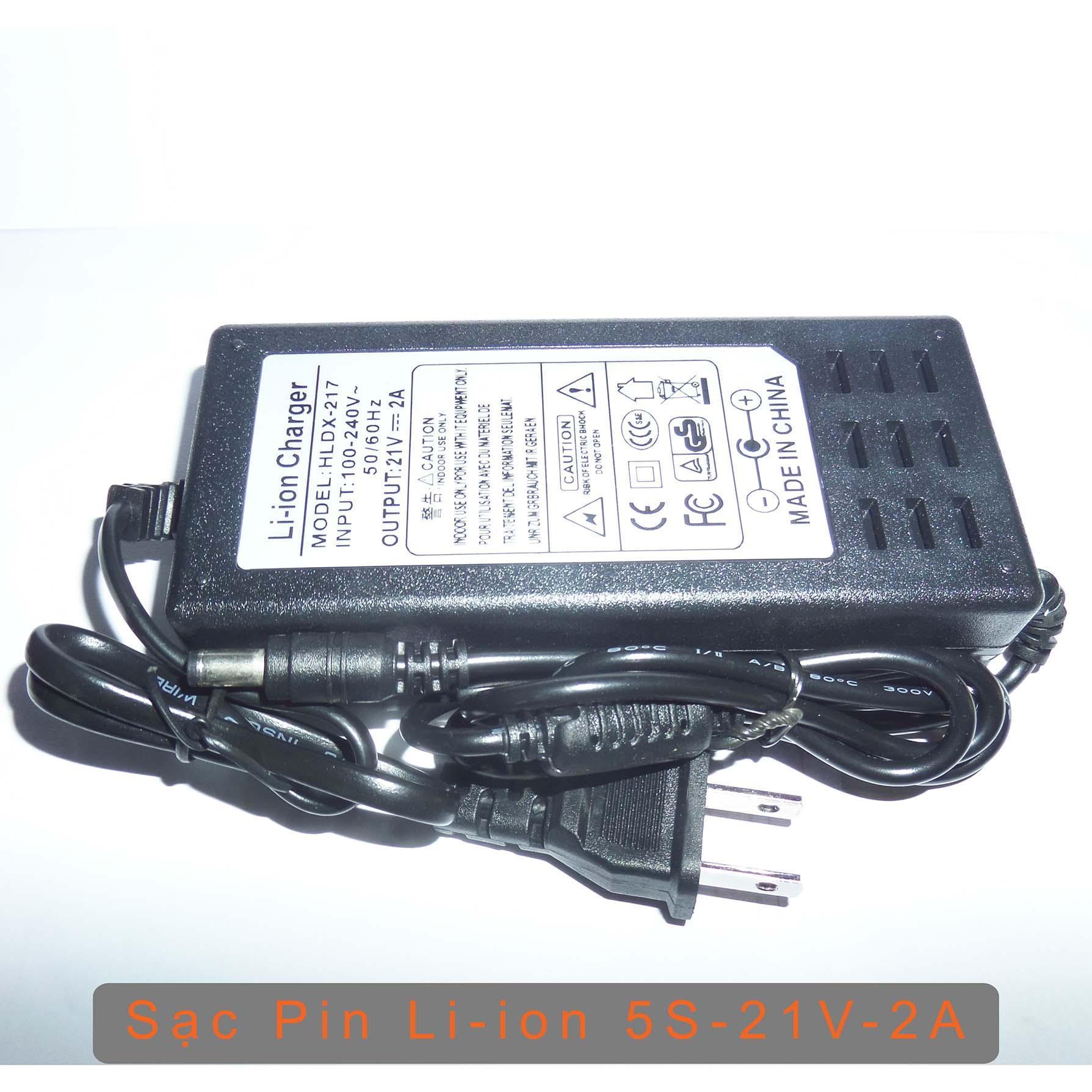 Adapter Sạc Pin 5S 21V - Chuyên sạc (pack) pin Li-ion 5S 18V 21V