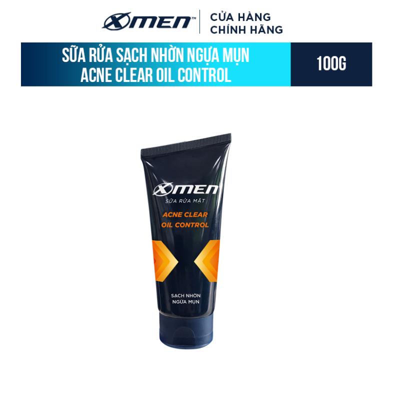 Sữa rửa mặt X-Men Sạch nhờn ngừa mụn 100g