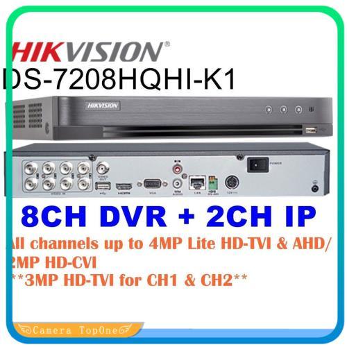 [NHÀ PHÂN PHỐI, BH 2 NĂM, FREESHIP 20K]Đầu ghi hình hd-tvi dvr 8 kênh hikvision ds-7208hqhi-k1, ỗ trợ gán thêm 2 camera IP 4MP, cho phép tắt bớt các kênh analog
