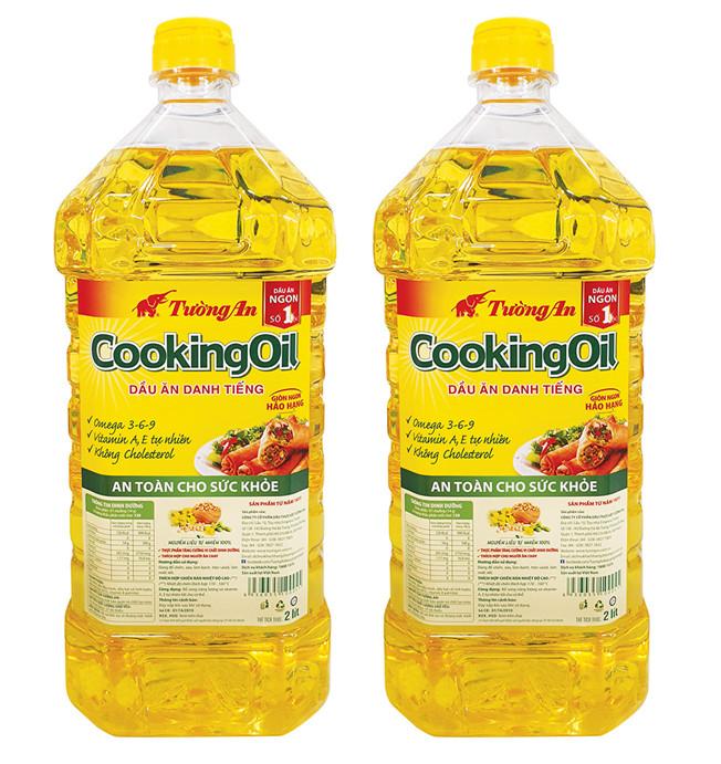 Combo 2 Chai Dầu Ăn Tường An Cooking Oil 2L