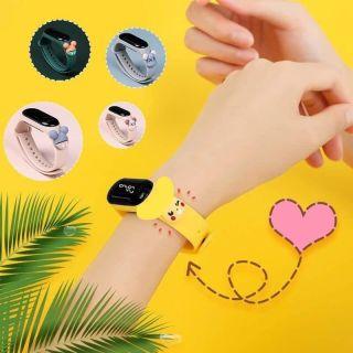 Đồng hồ màn hình LED điện tử, dây đeo hình thú Cute cho bé thumbnail