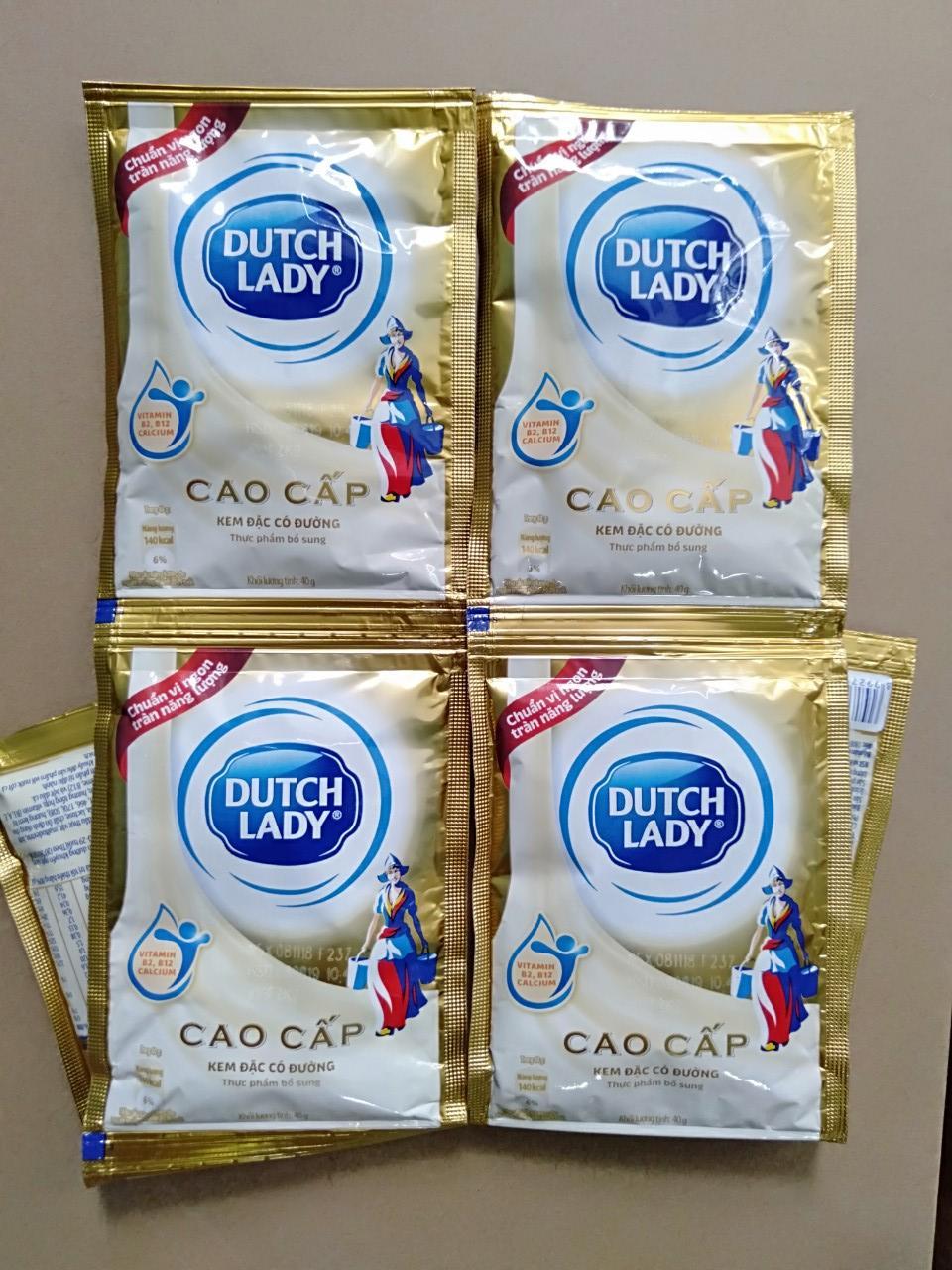 Set 10 gói sữa đặc có đường Dutch Lady 40g/gói