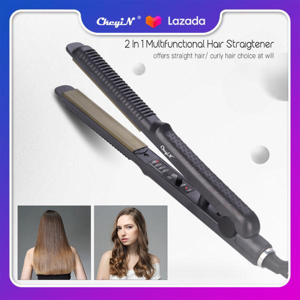 CkeyiN Máy duỗi tóc và uốn tóc 2 trong 1 làm nóng nhanh có điện áp 110-220V công suất 59W đường kính dẫn nhiệt 24mm giá siêu tốt HS390A-US