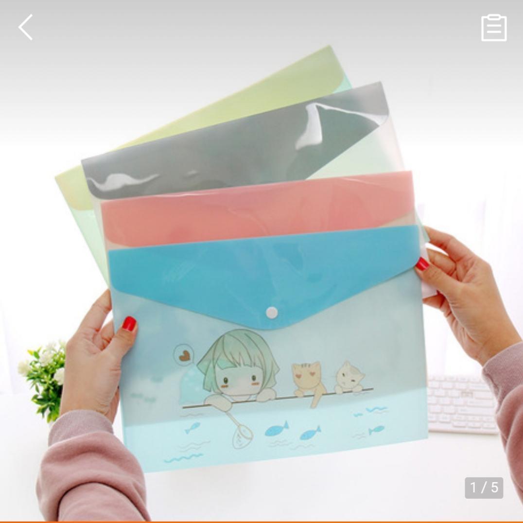 Mua Túi đựng hồ sơ, tài liệu giấy A4 họa tiết cute