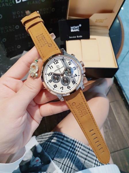 Nơi bán Đồng hồ nam , đồng hồ Montblanc nam size 45 chạy 6 kim kiểu dáng thể hao hiện đai