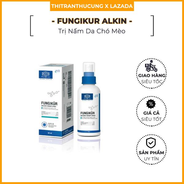 Fungikur Alkin | Xịt Loại Bỏ Nấm Fungikur Cho Chó Mèo | Lọ 50ml (Hàng xịn alkinvn)