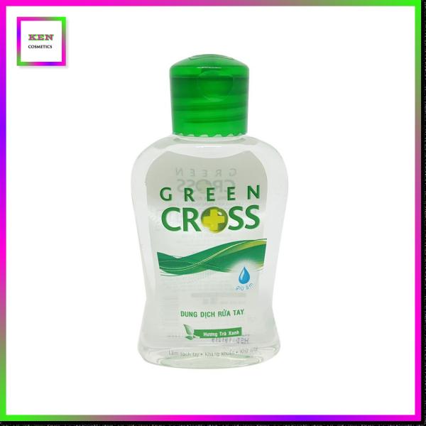 Nước Rửa Tay Khô Green Cross Màu Xanh Lá Hương Trà Xanh (100ml)
