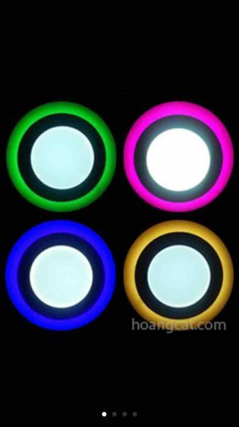 Đèn âm trần viền màu 3+3w