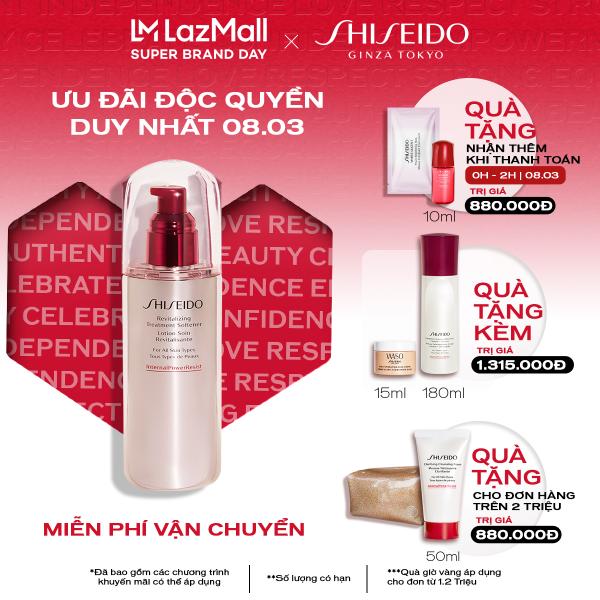 [Mở bán từ 0h ngày 8/3] Nước cân bằng Shiseido Revitalizing Treatment Softener 150ml cao cấp