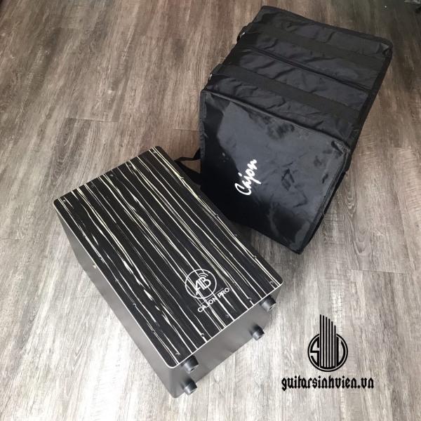 Trống AB Drum màu đen sọc cho người mới tập chơi - tặng kèm miếng lót chống ê mông - bảo hành 12 tháng