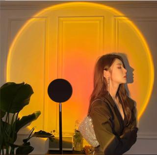Đèn Hoàng Hôn, Sunset, TIKTOK Tích Hợp 4 Màu Và Loại 16 Màu ( Có Điều Khiển ) Trong 1 Đèn chiếu cầu vồng trang trí, chụp hình, quay TikTok hot trend tích kiệm chi phí, ánh sáng lớn thumbnail