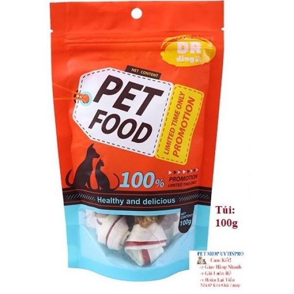BÁNH THƯỞNG CHO CHÓ Pet Food Vị Thịt gà Gói 100g
