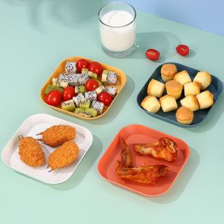 Đĩa nhựa nhỏ đựng đồ ăn vặt chất liệu PP chịu nhiệt và chống va đập tốt, màu sắc Macaron xinh xắn hiện đại - intl thumbnail