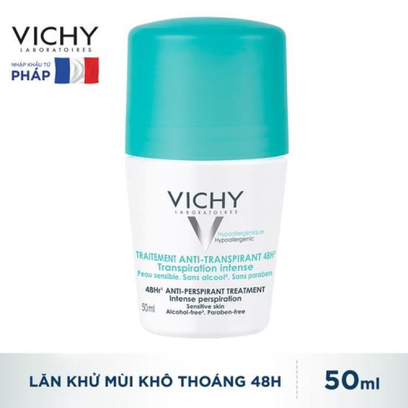 Lăn Khử Mùi Khô Thoáng 48h Vichy Traitement Anti-Transpirant 50 ml