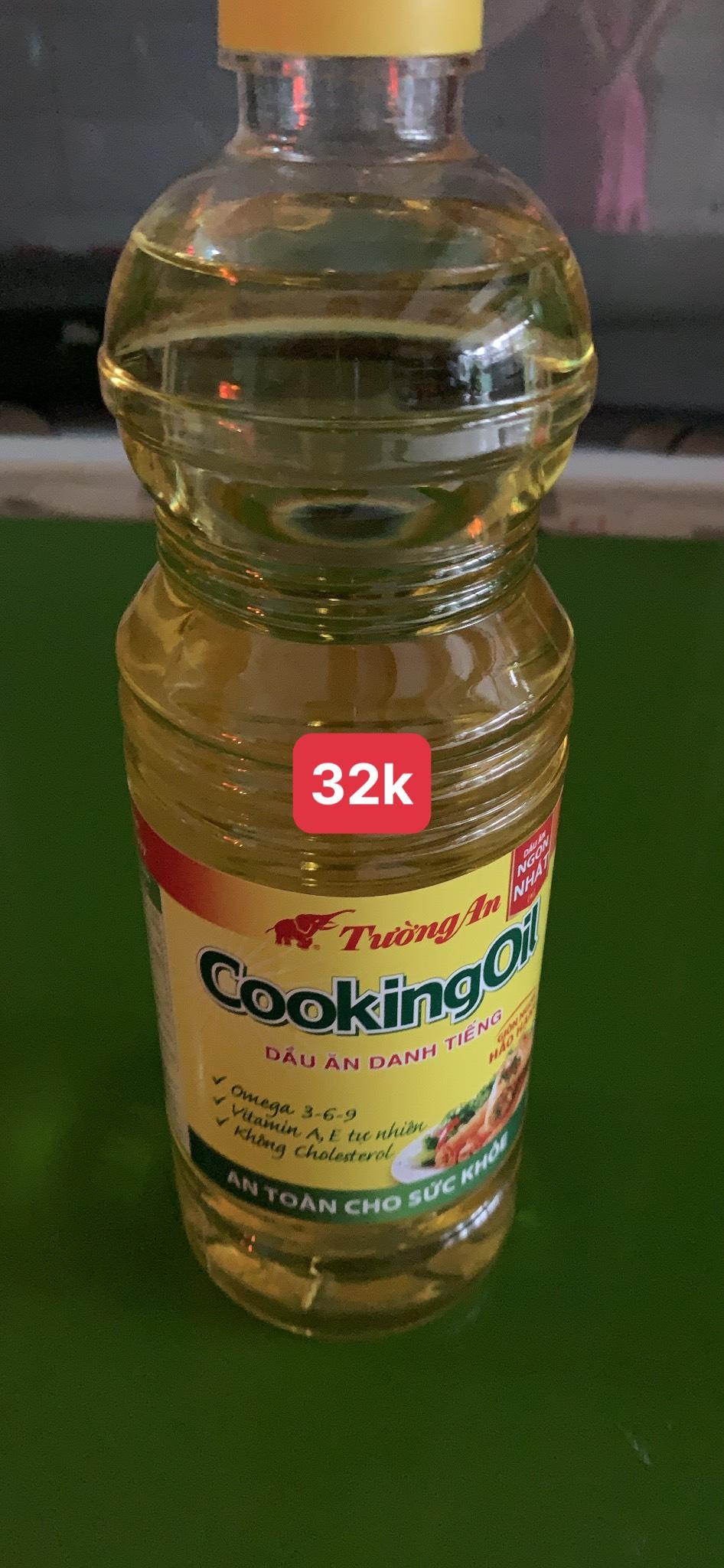 Chai dầu ăn cooking oil tường an 1 lít