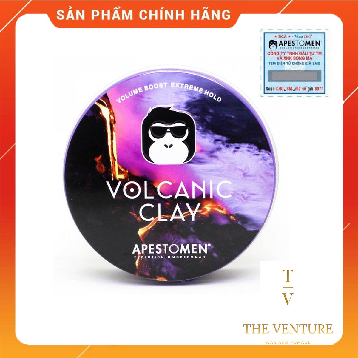 Sáp Vuốt Tóc Nam Apestomen Volcanic Clay Chính Hãng  - Tem Mã Vạch SMS Giá Cực Ngầu