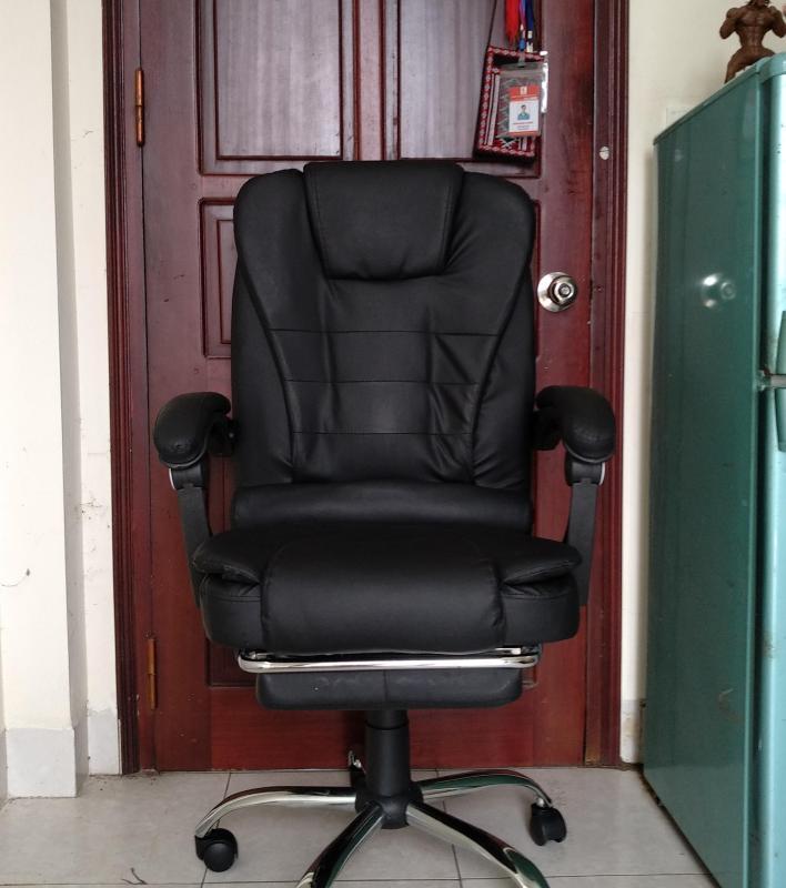 Ghế chơi game - Làm việc - Ngả lưng có masage (màu đen) giá rẻ