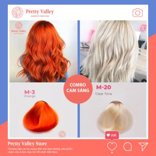 Combo thuốc nhuộm tóc màu cam sáng Molokai (1 màu tẩy và 1 màu cam sáng) - Pretty Valley thumbnail