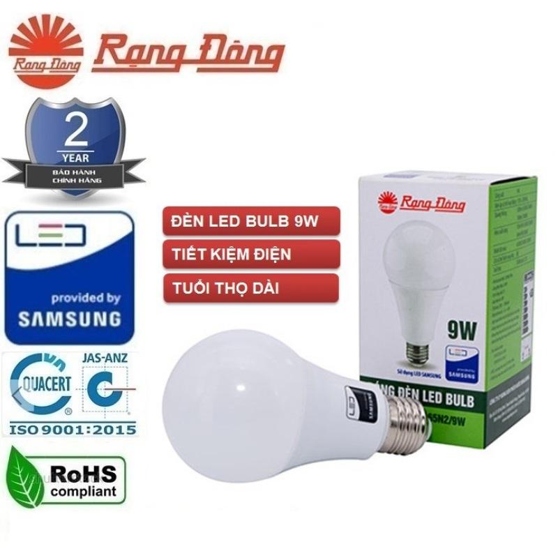 [HCM]Bộ 10 bóng đèn led tròn 9W Rạng Đông Chip led Sam Sung siêu sáng
