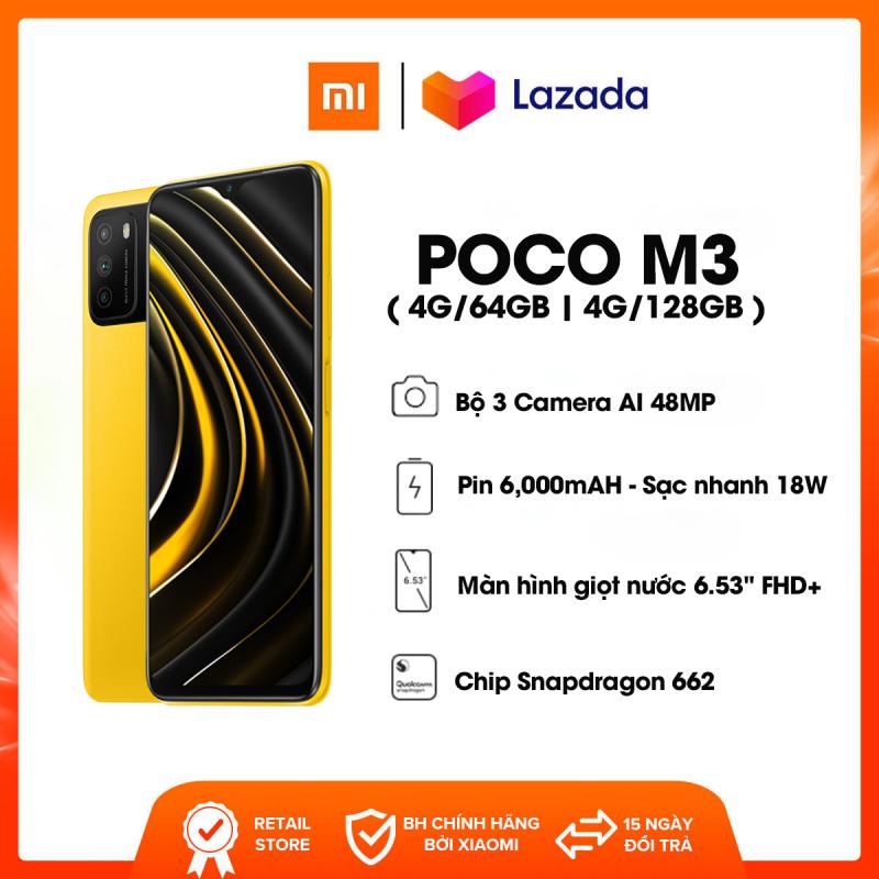 Điện thoại POCO M3 - Chip Qualcomm Snapdragon 662 Dung lượng Pin 6,000mAH Bộ 3 Camera AI 48MP | Bảo hành 18 tháng