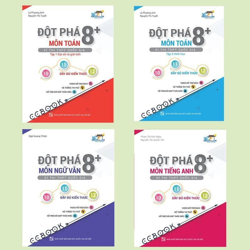 Mua Combo sách đột phá 8+ thi THPT quốc gia khối D: Toán - văn - anh