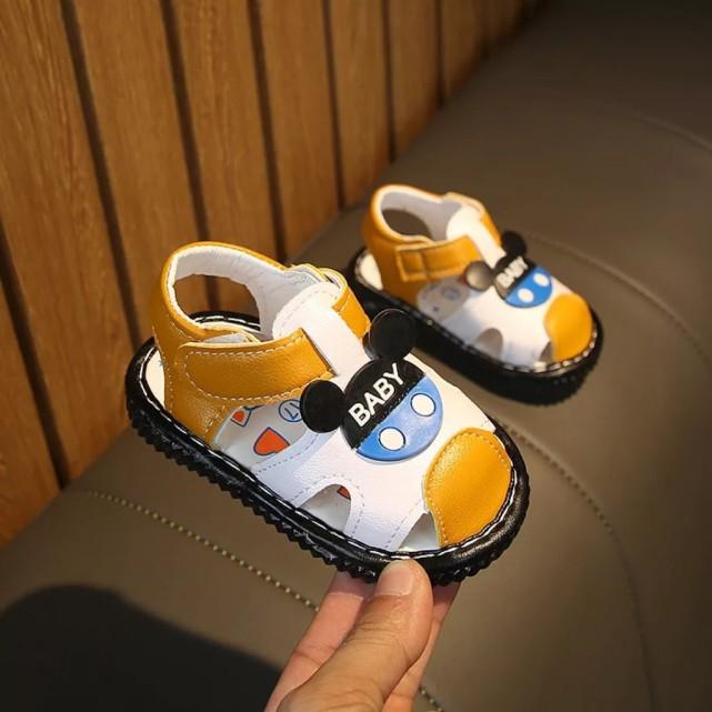 Giày tập đi dành cho cả bé trai và bé gái - In hình ngộ nghĩnh - Quai mềm, đế chống trơn trượt giá rẻ