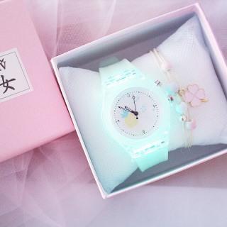 Đồng hồ thời trang nữ Candycat led phát sáng dây silicon QA895 thumbnail
