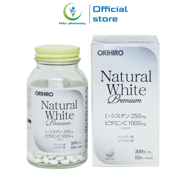 Viên uống trắng da Natural White Premium Orihiro Nhật Bản giảm nám, sạm da, tàn nhang - Chai 300 viên giá rẻ