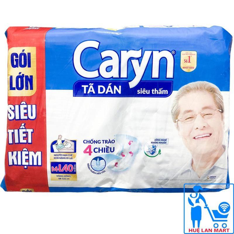 Bỉm Người Già - Tã Dán Caryn Size M-L40 (Vòng hông 68-122cm) tốt nhất