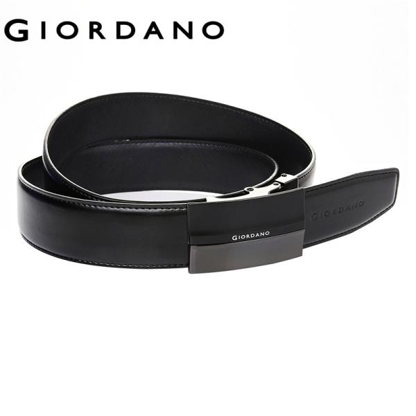 Giordano Men Belts Auto Metal Buckle Casual Bright Belts Split Leather Waterproof Quality Design Belts Free Shipping 95132522