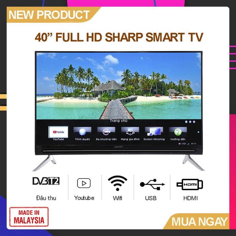 Bảng giá Smart TV Sharp 40 inch Full HD - Model 40SA5500 (Hệ điều hành Easy Smart, Youtube, Tích hợp DVB-T2, Wifi) - Bảo Hành 2 Năm